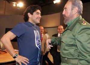 """Maradona """"moderno Bolivar"""", il feeling con Castro"""