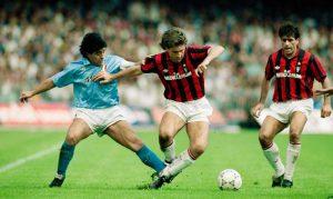 Napoli-Milan, gli anni di Maradona e Van Basten