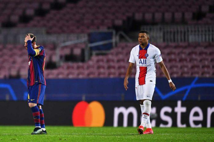 Messi Mbappé tripletta