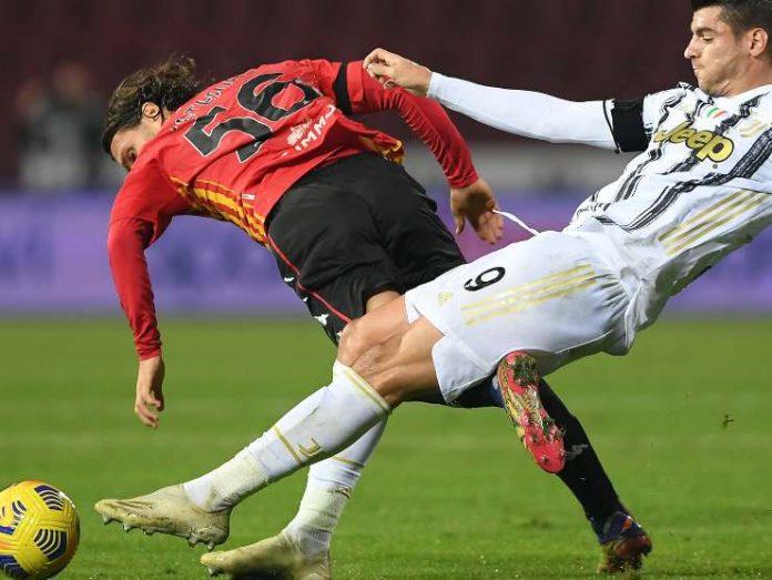 Morata della Juve in contrasto - Getty Images