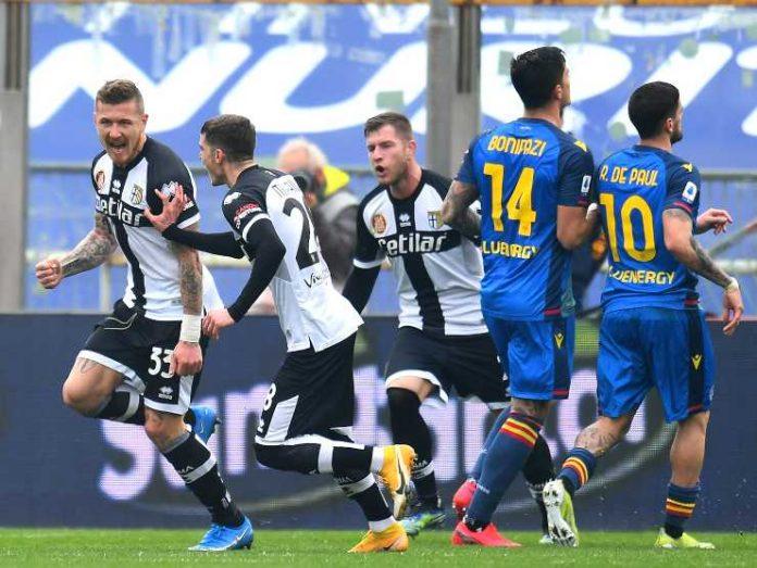 Esultanza del Parma con Kucka - Getty images
