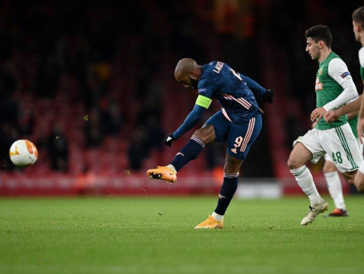 Arsenal con Lacazette in rete - Getty images