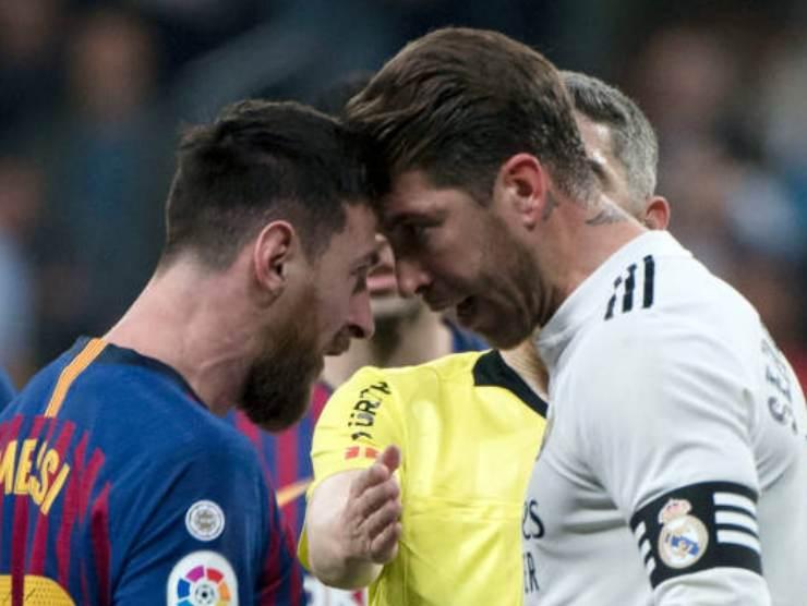 Messi-Ramos faccia a faccia