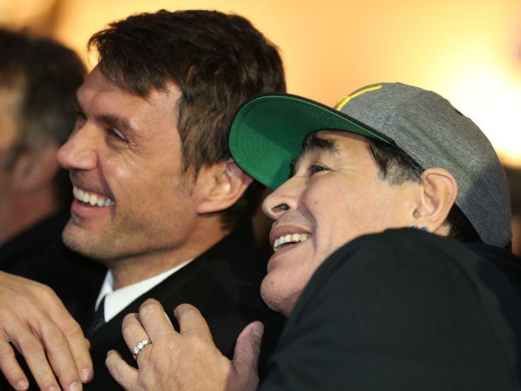 Maldini e Maradona
