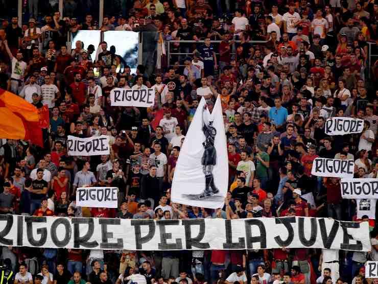 Striscione anti-Juventus
