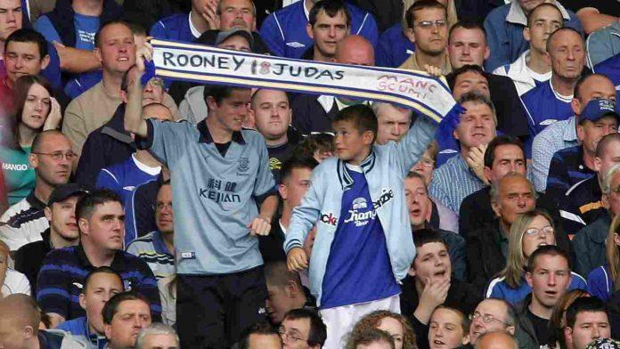 Striscione per Rooney