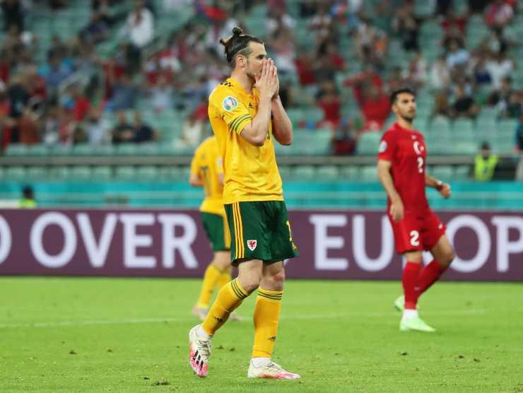 Gareth Bale rigore sbagliato Euro 2020