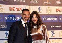 Leonardo Bonucci e la moglie Matilda