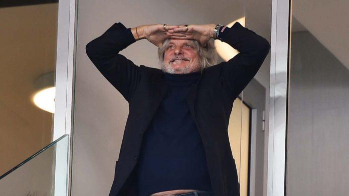 Massimo Ferrero allenatore Sampdoria