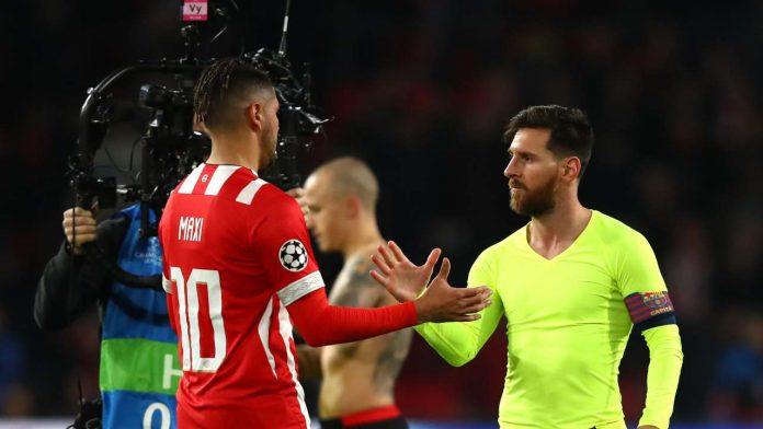 Romero saluta Messi - Getty Images