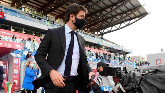 Juventus, Andrea Agnelli in tribuna