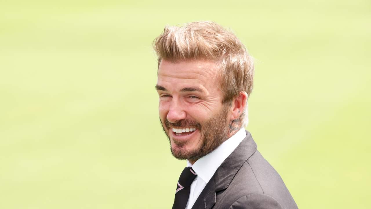 David Beckham sorriso