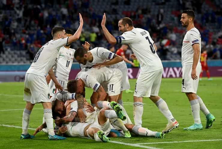 esultanza al gol dell'Italia