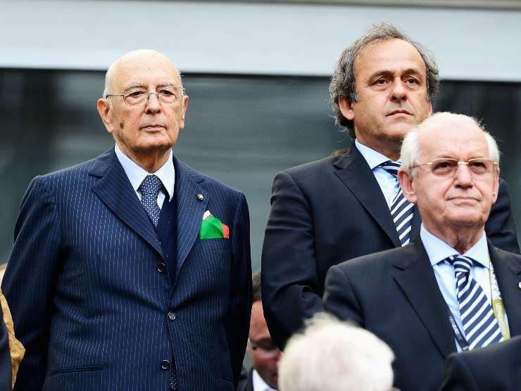 Giorgio Napolitano stadio Italia
