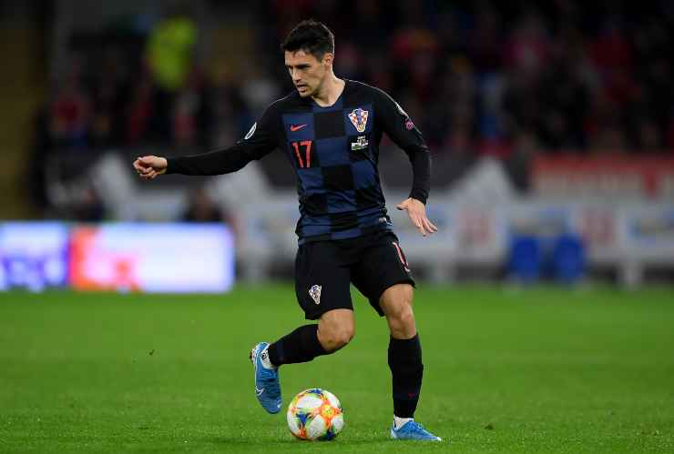 Josip Brekalo in campo con la Croazia