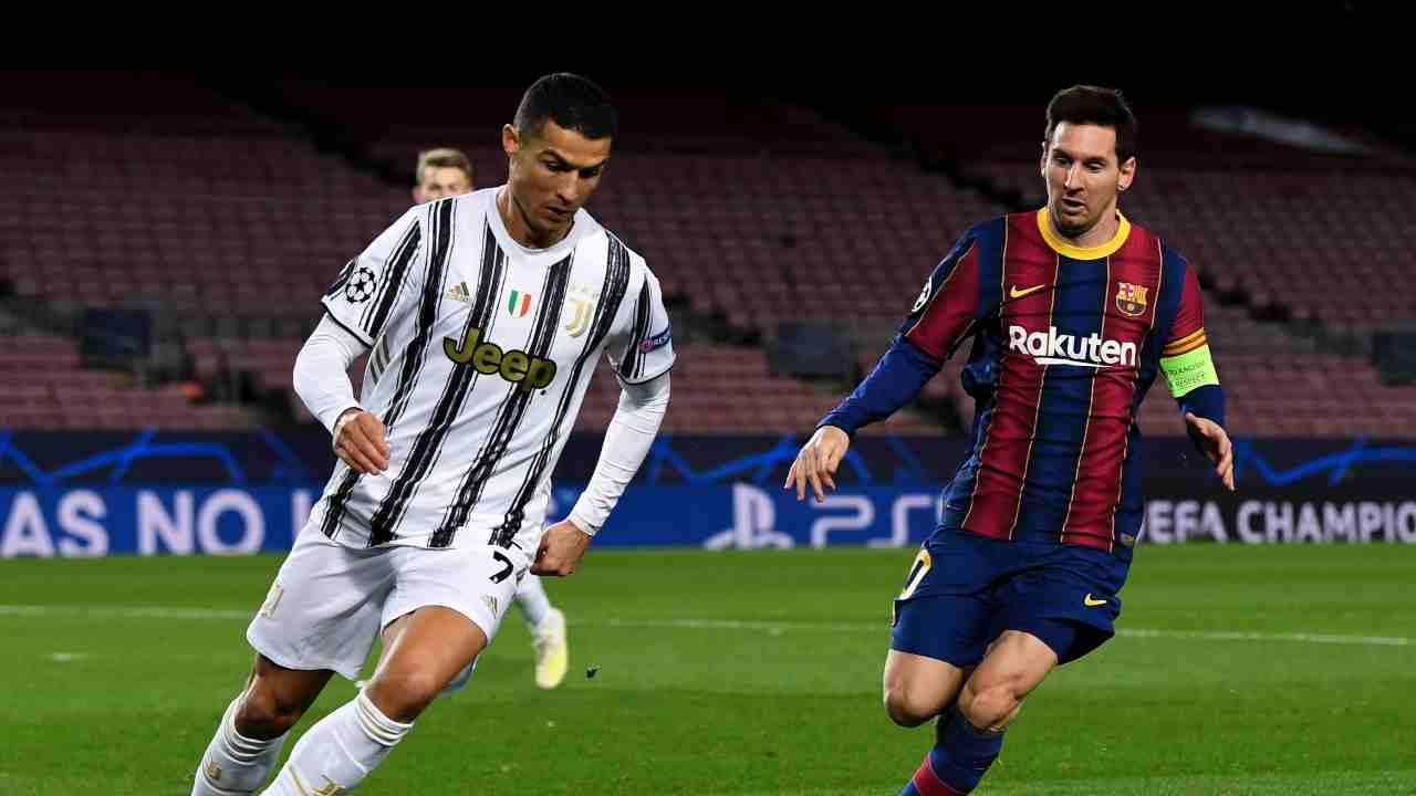 Juventus Barcellona Ronaldo Messi