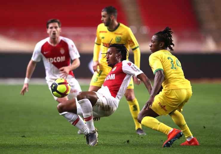 Kolo Muani in campo con il Nantes contro il Monaco