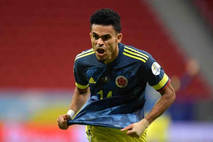 Luis Diaz con la maglia della Colombia