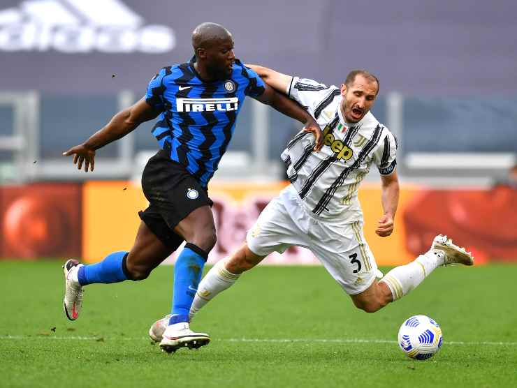 Lukaku Chiellini Inter Juventus