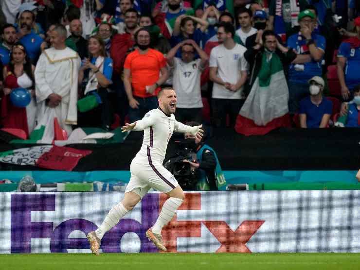 Luke Shaw gol Italia
