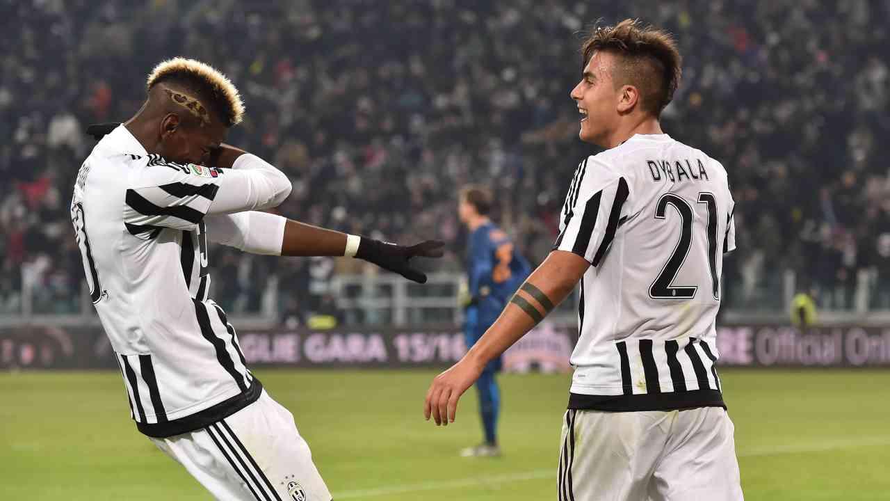 Pogba Dybala insieme Juventus