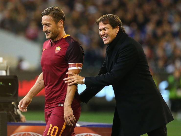 Totti e Garcia - Getty Images