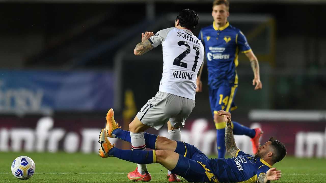 Soriano contro il Verona - Getty Images