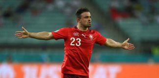 Calciomercato, Xherdan Shaqiri con le braccia allargate