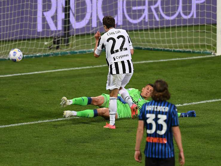 Chiesa gol finale Coppa Italia - Getty Images