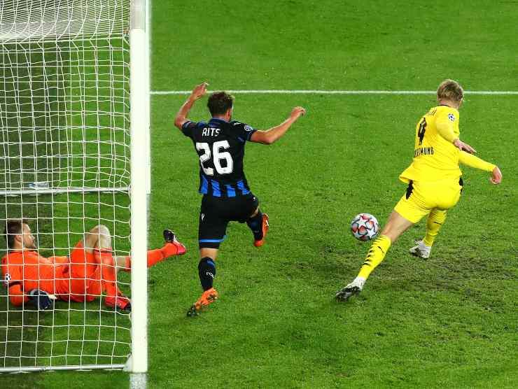 Haaland gol Champions - Getty Images