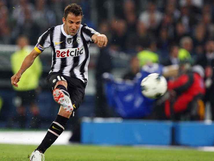Alessandro Del Piero in campo con la Juventus