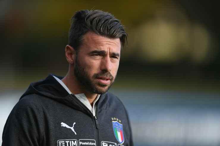 Andrea Barzagli con la tuta dell'Italia