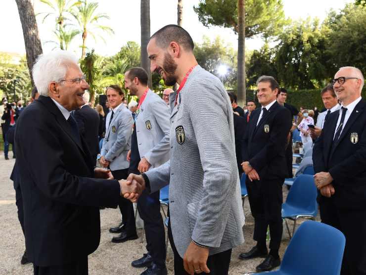 Bonucci e Mattarella - Getty Images