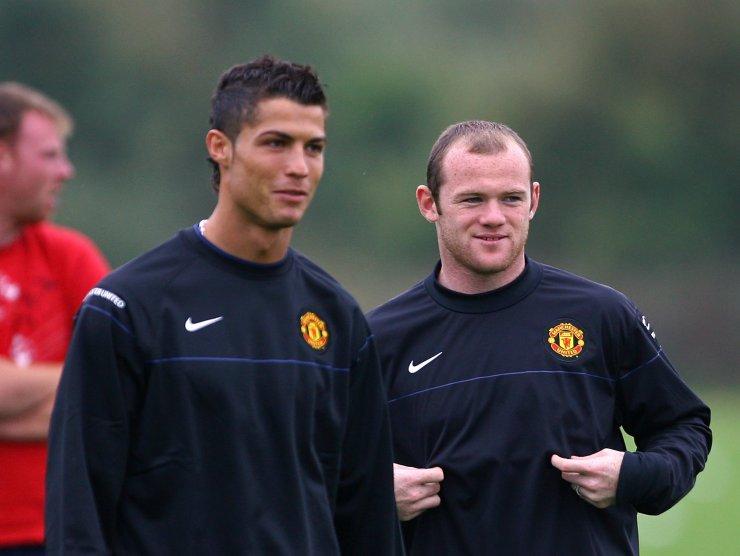 Cristiano Ronaldo e Wayne Rooney