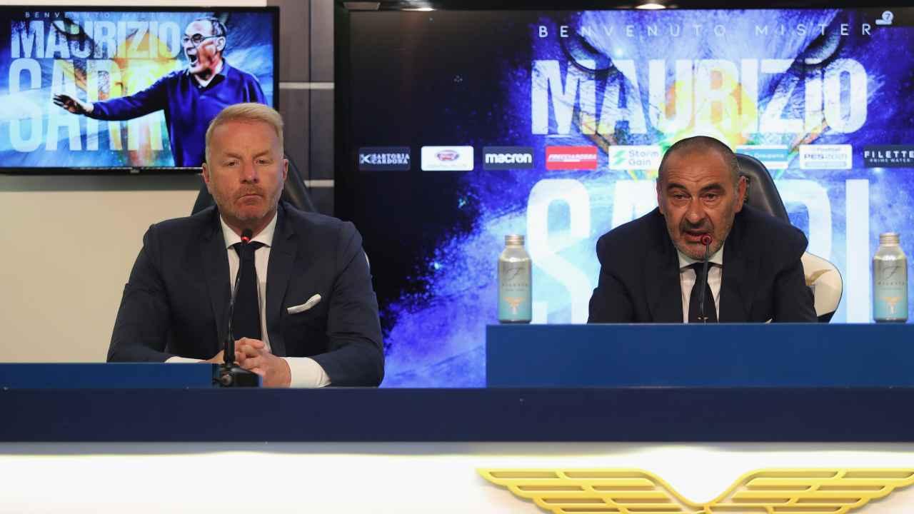 Calciomercato Lazio, Igli Tare e Maurizio Sarri in conferenza