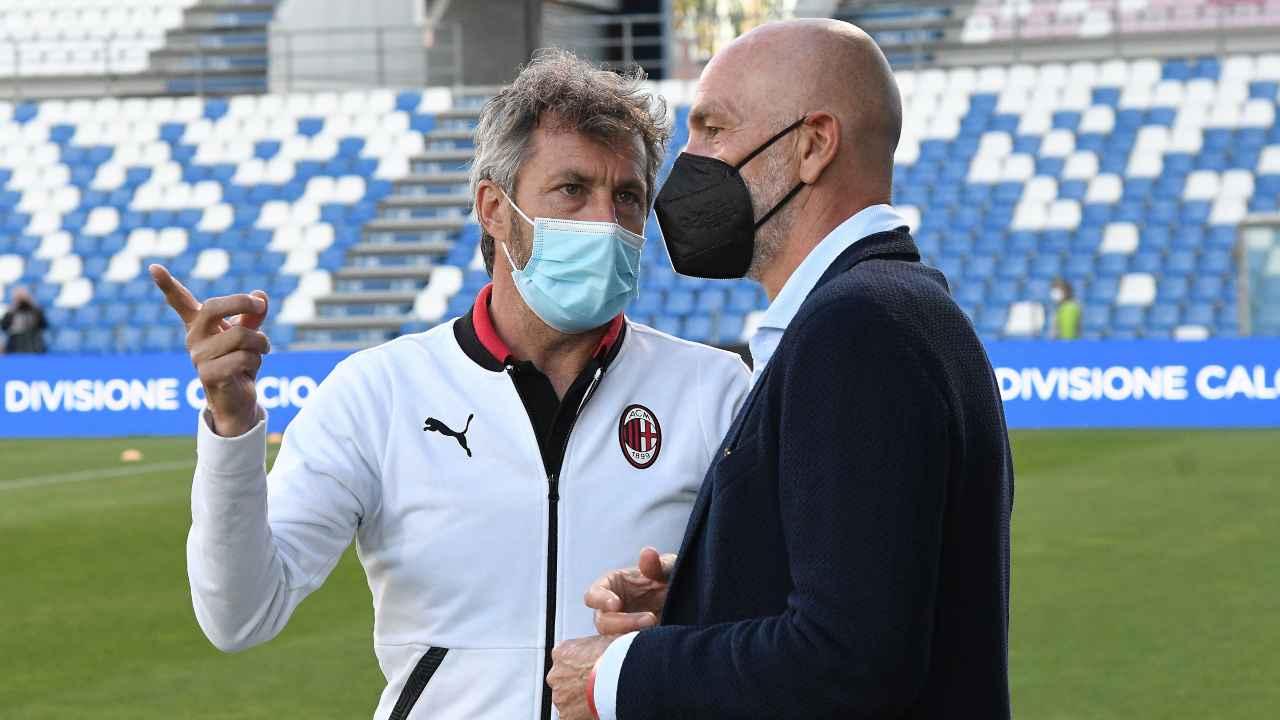 Calciomercato Milan, Maurizio Ganz e Stefano Pioli mentre parlano