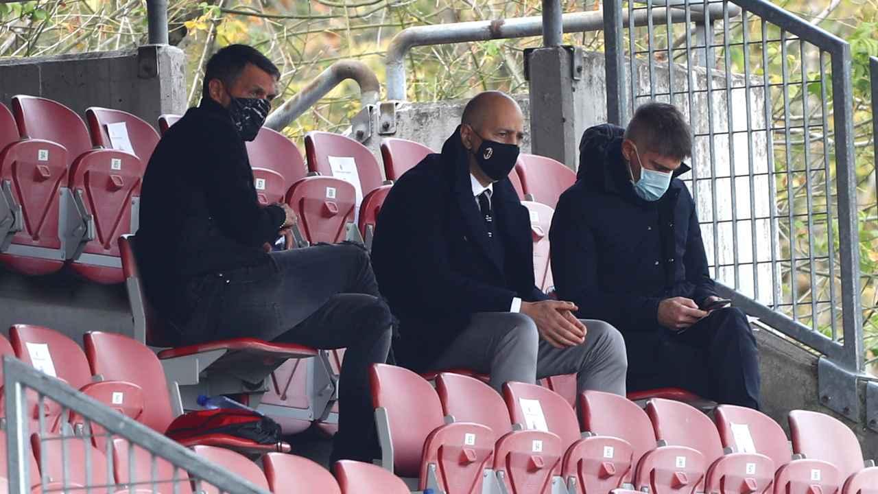 Calciomercato, Paolo Maldini, Ivan Gazidis e Frederic Massara seduti vicini