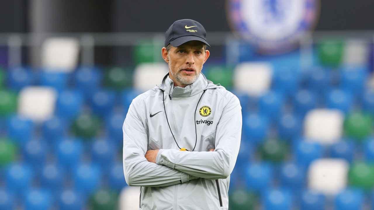 Calciomercato, Thomas Tuchel in campo con la tuta del Chelsea