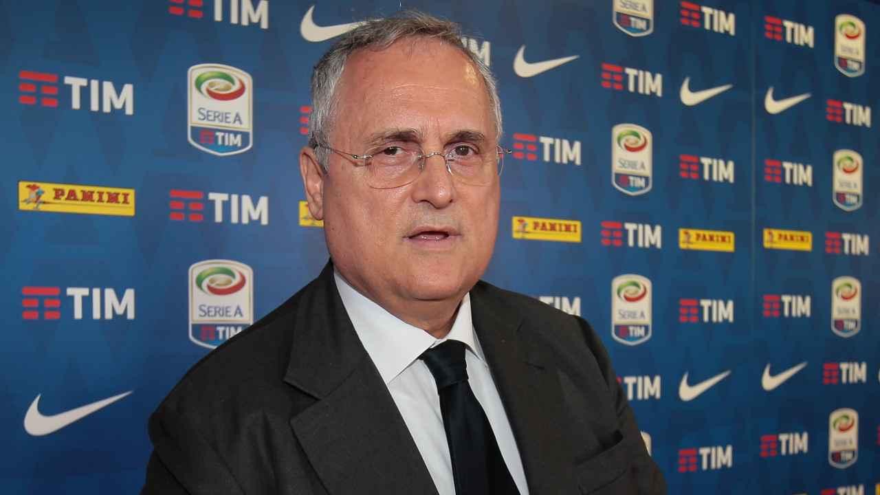 Calciomercato Lazio, Claudio Lotito in primo piano