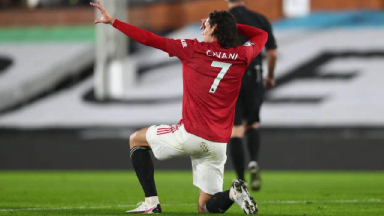 Edinson Cavani, in partenza dal Manchester United