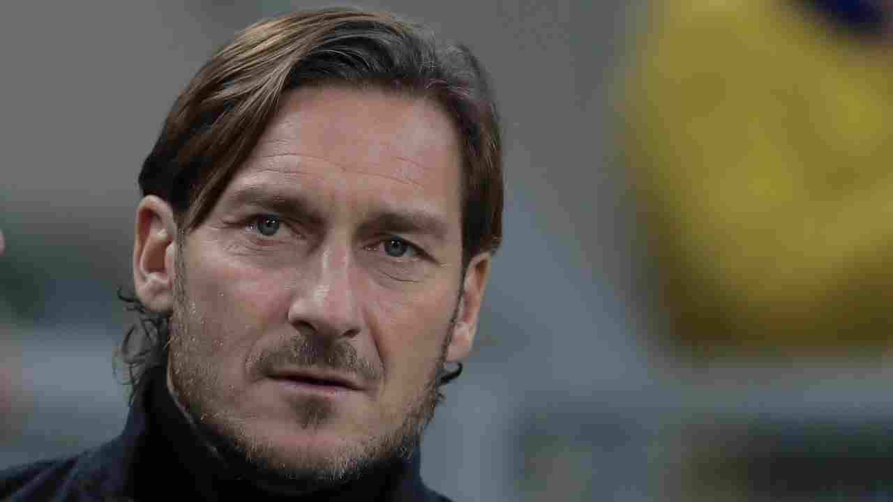 Francesco Totti in primo piano