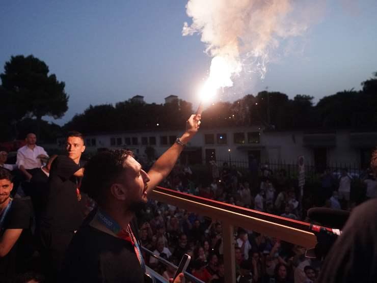 Gigio Donnarumma festeggiamenti