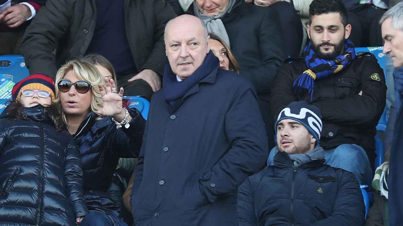 Inter, Giuseppe Marotta in tribuna