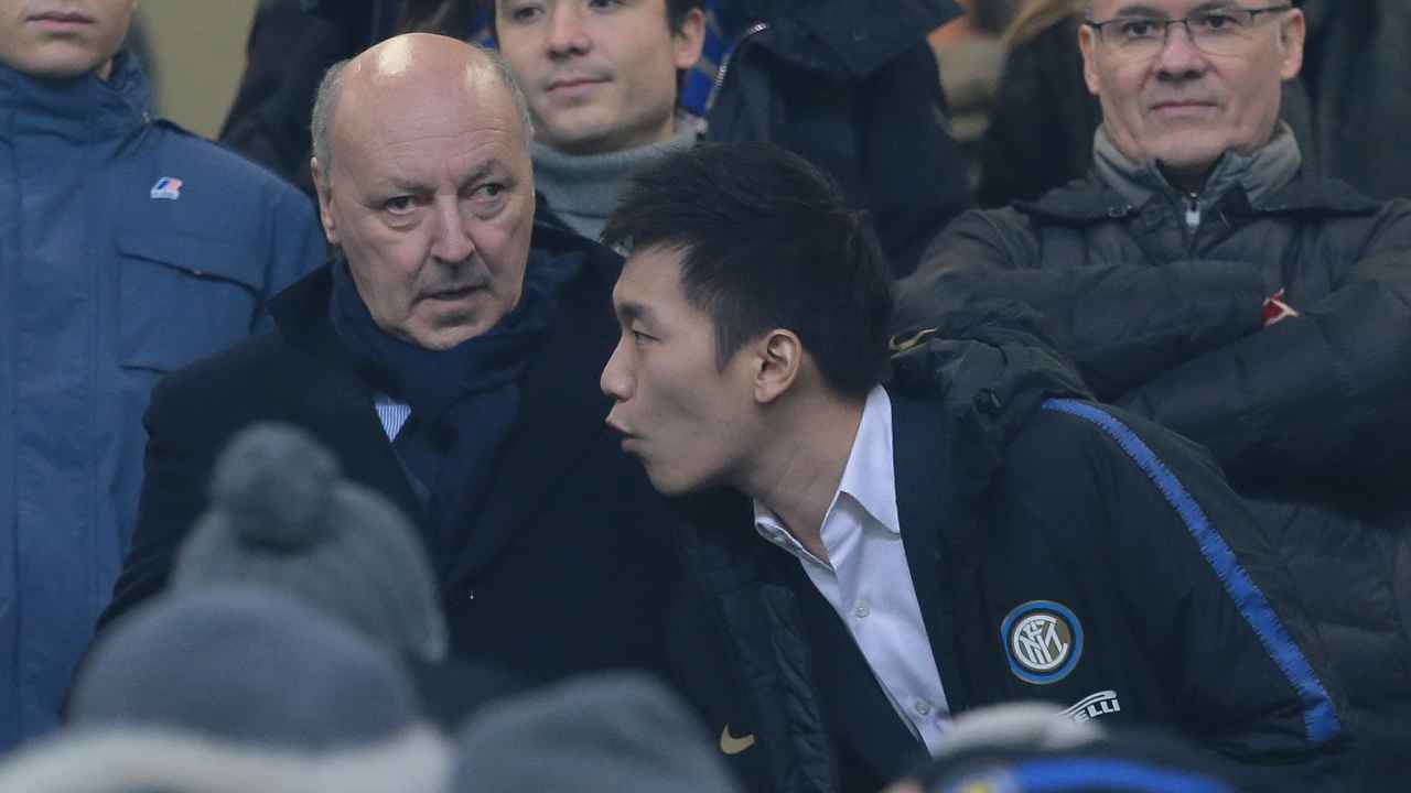 Calciomercato Inter, Giuseppe Marotta e Steven Zhang in tribuna