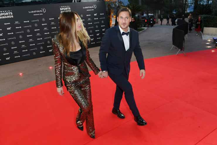 Ilary Blasi e Francesco Totti sul red carpet