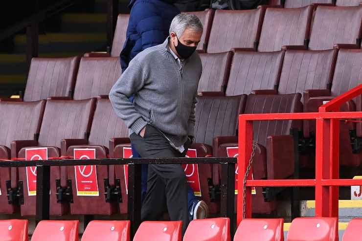 Jose Mourinho in tribuna