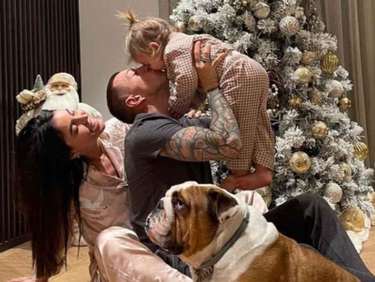 Federico Bernardeschi, Veronica Ciardi e la figlia a Natale
