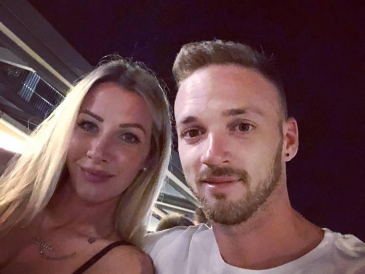 Lazzari e la fidanzata Diletta