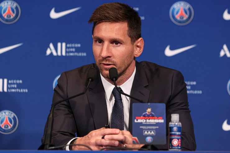 Lionel Messi in conferenza stampa