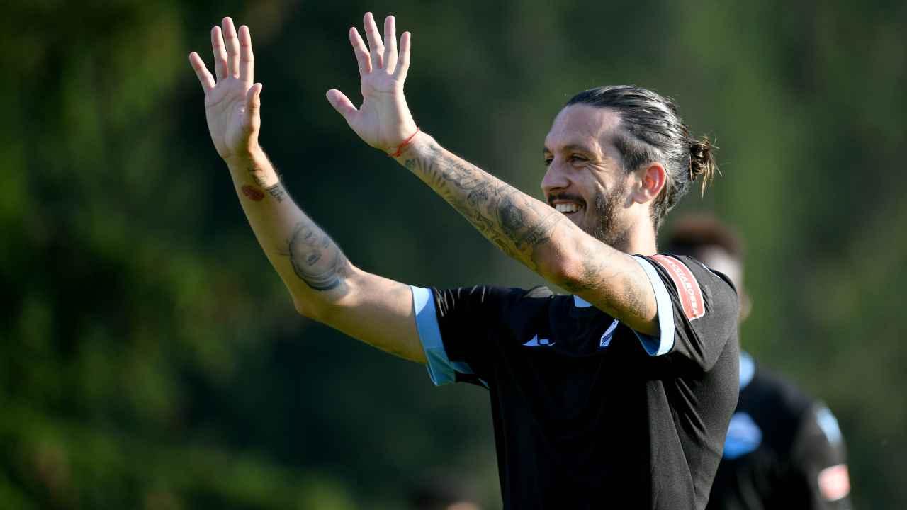 Luis Alberto esulta dopo il gol in amichevole, Ritiro SS Lazio stagione 2021-2022